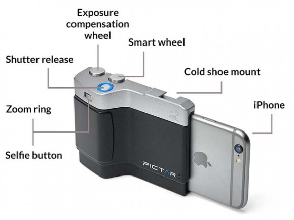 画像はhttps://www.kickstarter.com/projects/mymiggo/pictar-probably-the-best-iphone-camera-grip-ever-bより